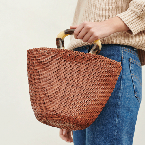 how darling is this  loeffler Randall woven tote ?