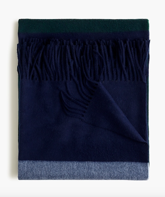 this  striped cashmere throw  is on sale for $65 (originally $299)!