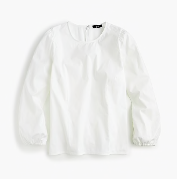 this  classic white blouse  is a closet staple (on sale for under $60)