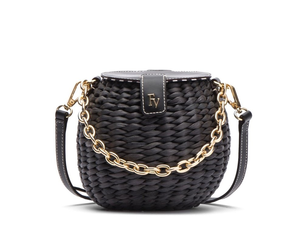 this  woven honeypot basket bag  is the perfect day to night accessory!