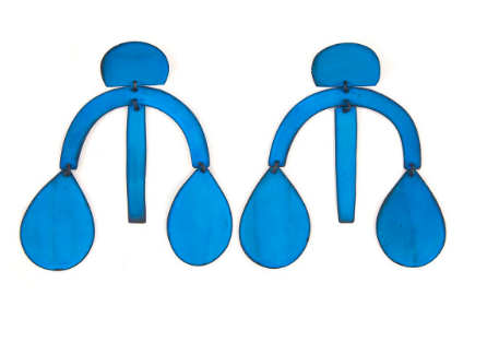 You know we can't resist a great pair of  statement earrings ! This  oxide blue pair  is perfect for adding a pop of color to any outfit. We are also loving these darling blue  heart drop earrings , these  pom pom oxidized earrings , and you know we can't resist this  pair .