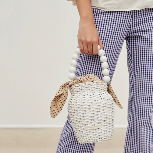 snap up this  chic vase shaped wicker tote  - it's 30% off today!