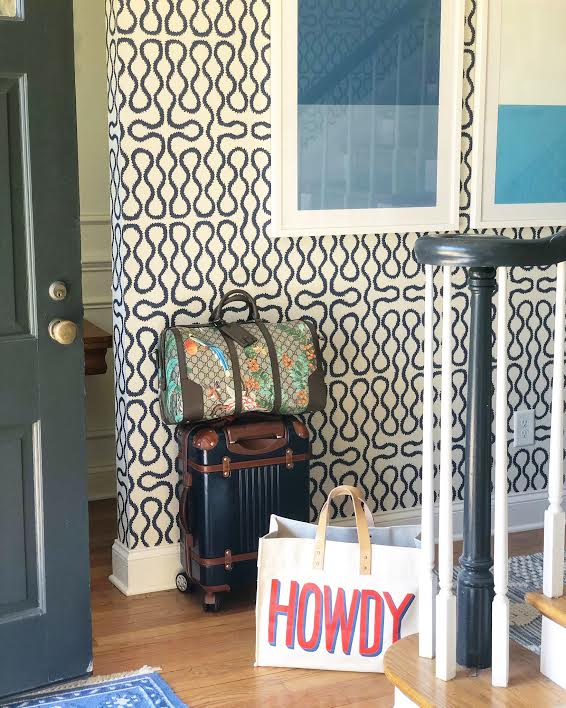 snap up our  Howdy tote here  - it's perfect for traveling! You can also snap up our favorite  spinner set ,  duffel bag  and  art  now!