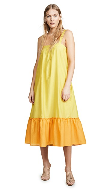 we adore this  color blocked sundress