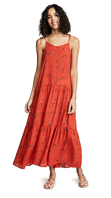 this  sweet floral maxi dress  is about to part of our spring uniform!