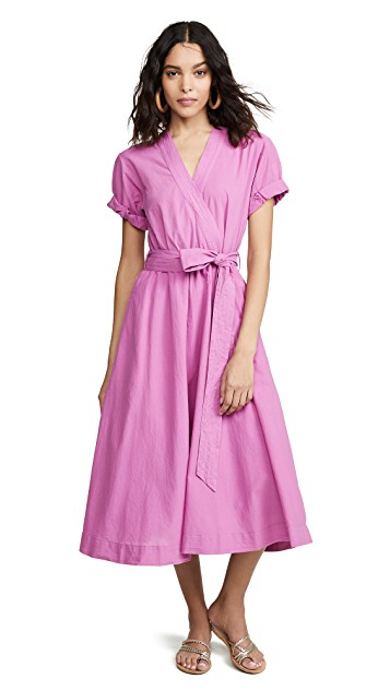 you know we love a  wrap dress  in a vibrant color!