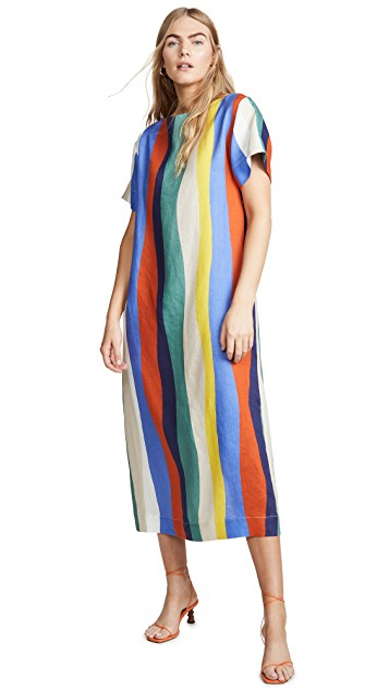 this  colorful linen dress  is at the tippy top of our wishlist!