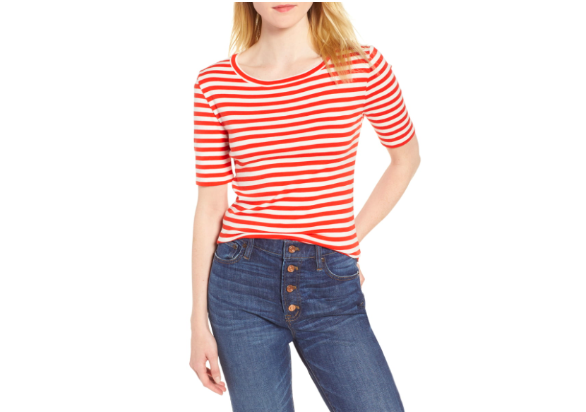 you know we're smitten with stripes! snap up our  favorite tee  (with the perfect sleeve length) for $16!