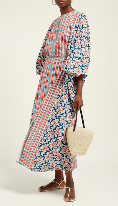 this multicolored  patchwork print caftan  is at the tippy top of our wishlist for summer getaways!