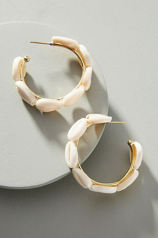 add a touch of the islands with these  shell hoop earrings  (under $50)!
