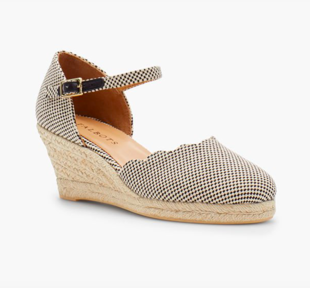 hese  scalloped espadrilles  are darling!