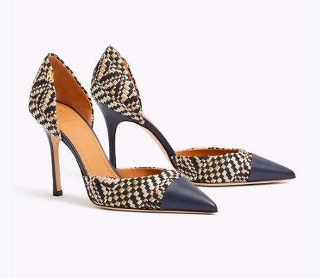 these  woven cap toe pumps  are absolute perfection!