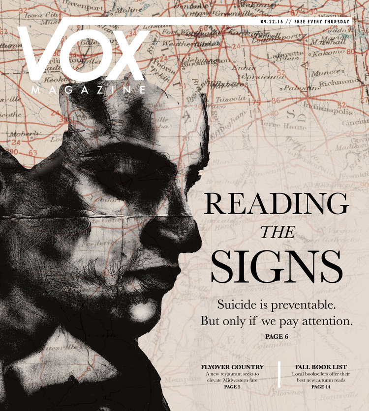 Executed conceptual art direction and design for a feature story on suicide.  Recruited an illustrator for the cover.