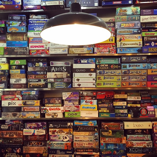 Uncommons board game cafe in New York