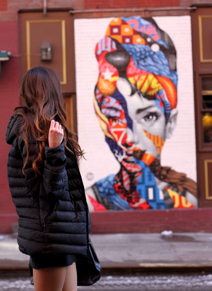 udrey Hepburn graffiti in Little Italy.