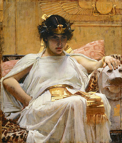 Cleopatra   by  John William Waterhouse