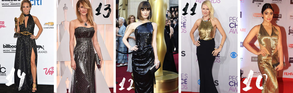 14.Carrie Underwood 13.Laura Dern 12. Rose Byrne 11. Naomi Watts 10.Shriya Saran