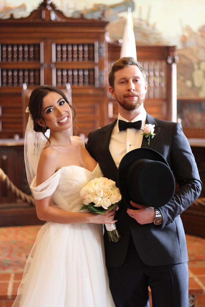 bride and groom. Ulia Ali