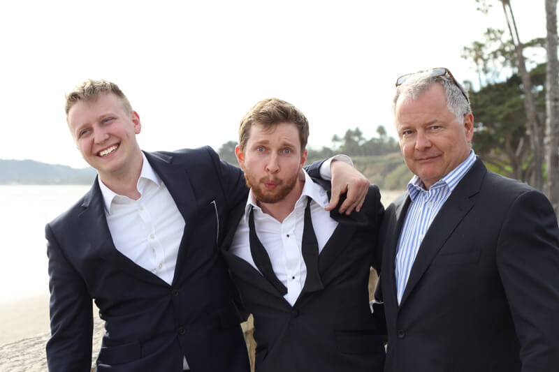 Ben with his father and brother.