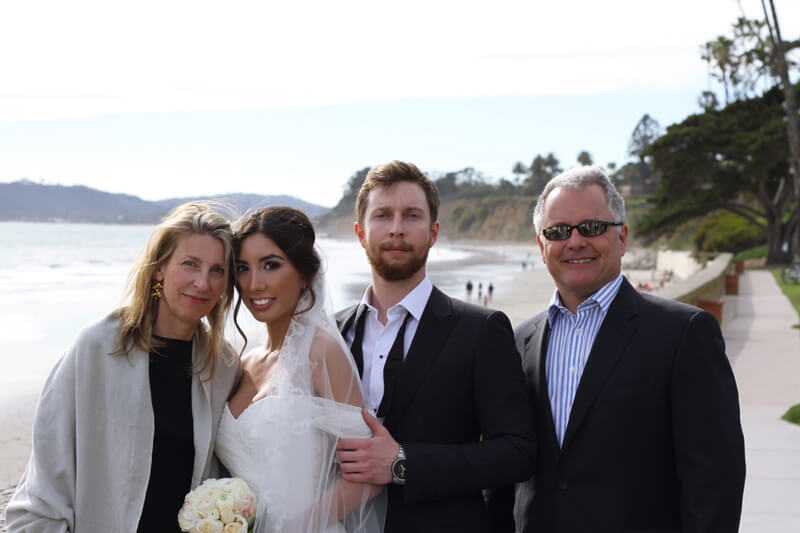 New family :) Newlyweds with groom's parents