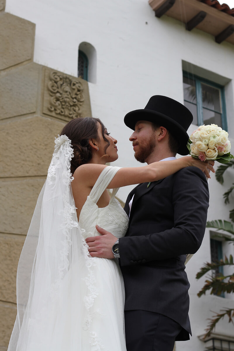 Bride and Groom in Santa Barbara