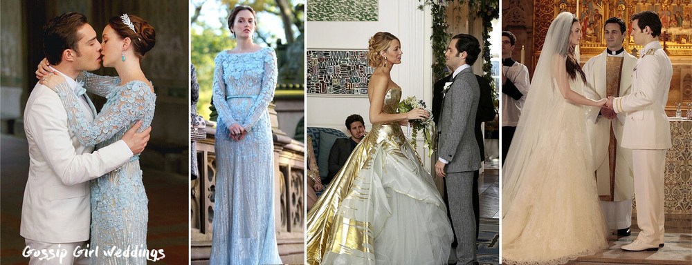 Gossip Girl weddings. Best film and tv show brides