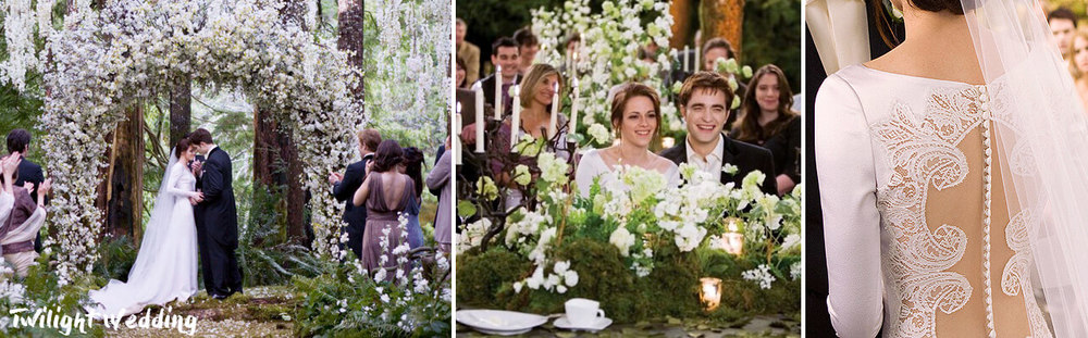 Bella and Edward beautiful wedding ceremony, Twilight.