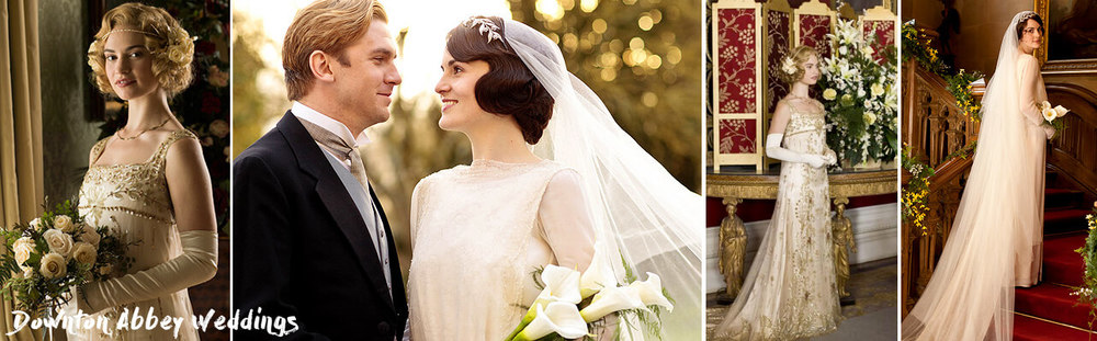 Downton Abbey Brides. Wedding Dresses