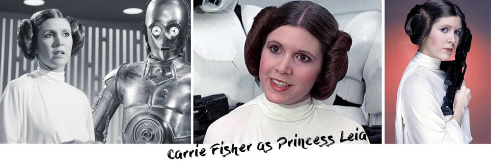 Carrie Fisher as Princess Leia. Hairstyle tutorial