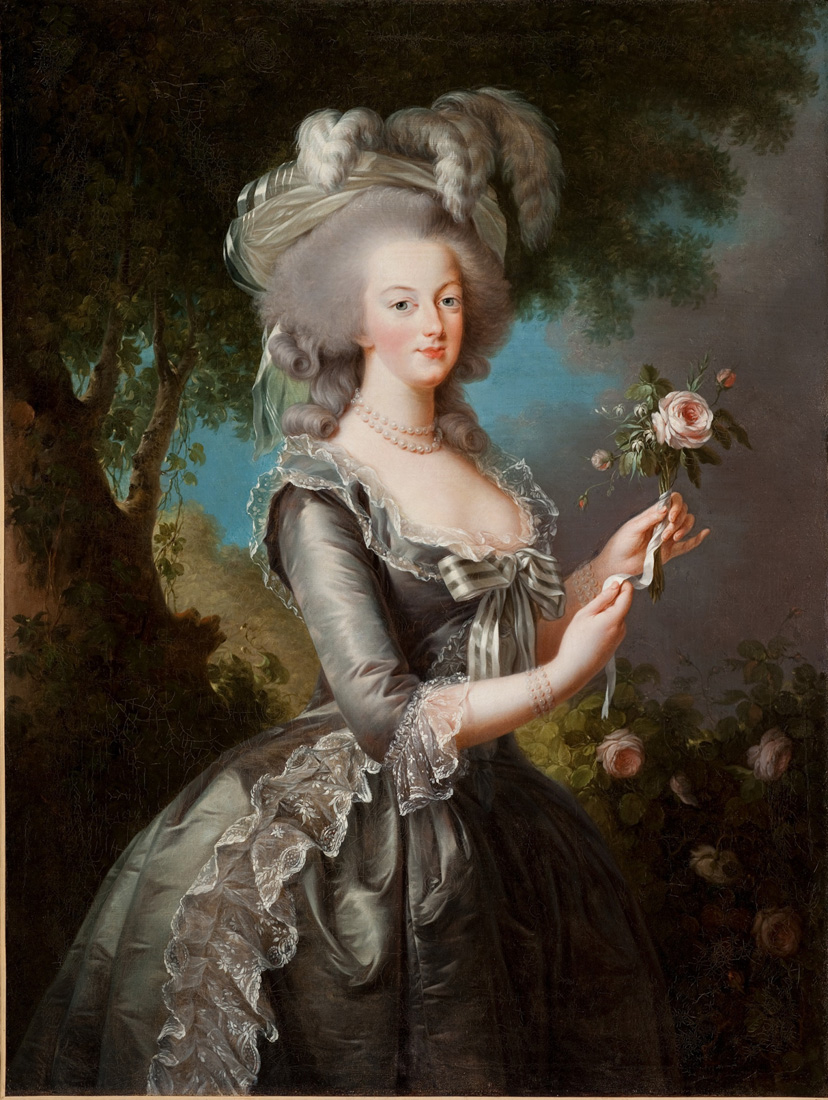 Marie Antoinette with a Rose  by  Vigée Le Brun