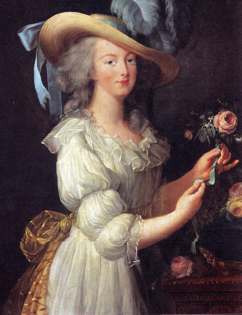 "Marie Antoinette En Chemise, Portrait Of The Queen In A ""muslin"" Dress, By  Louise Élisabeth Vigée Le Brun"