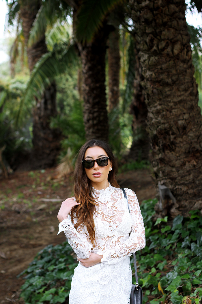 Ulia Ali in Santa Barbara, CA. Top Blogger wearing Nasty Gal brand
