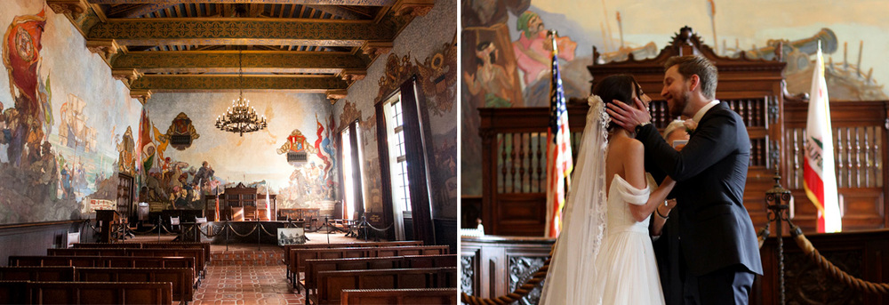 Wedding in the Mural Room at the Santa Barbara Courthouse