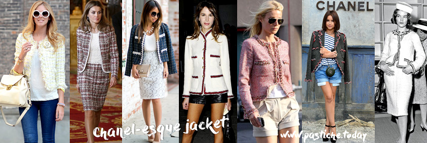 Classc Chanel-esque jacket outfits. Modern ladies and bloggers