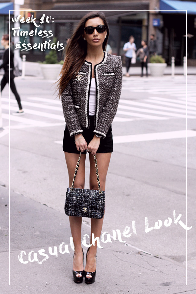 Blogger Ulia Ali wearing Chanel on the streets of NYC.