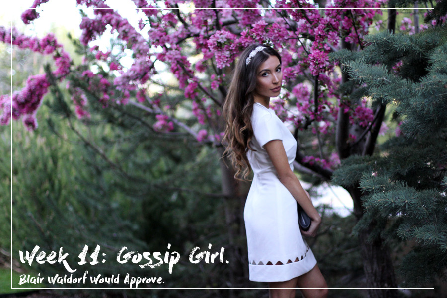 Ulia Ali as Blair Waldorf on her blog www.pastiche.today
