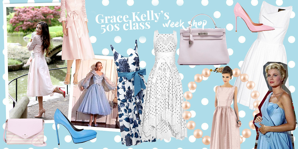 Curated 50s style dresses shop Grace Kelly style