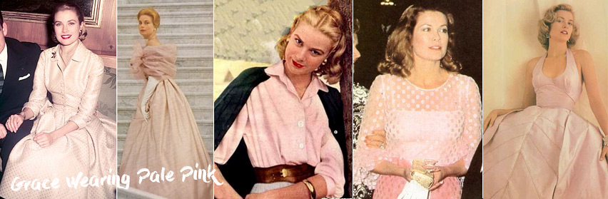 Grace Kelly in Pale Pink dresses