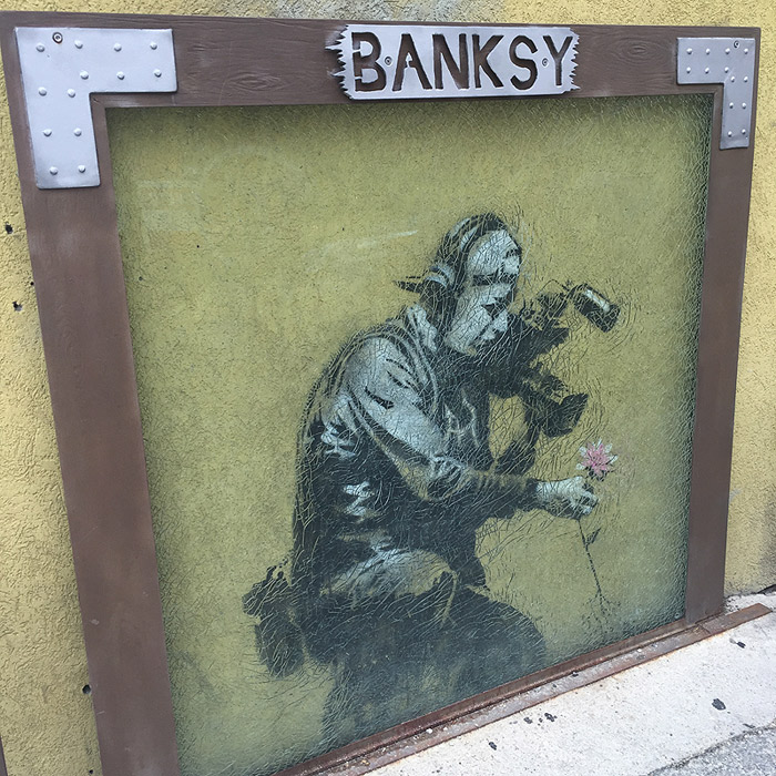 Banksy on Main Street.