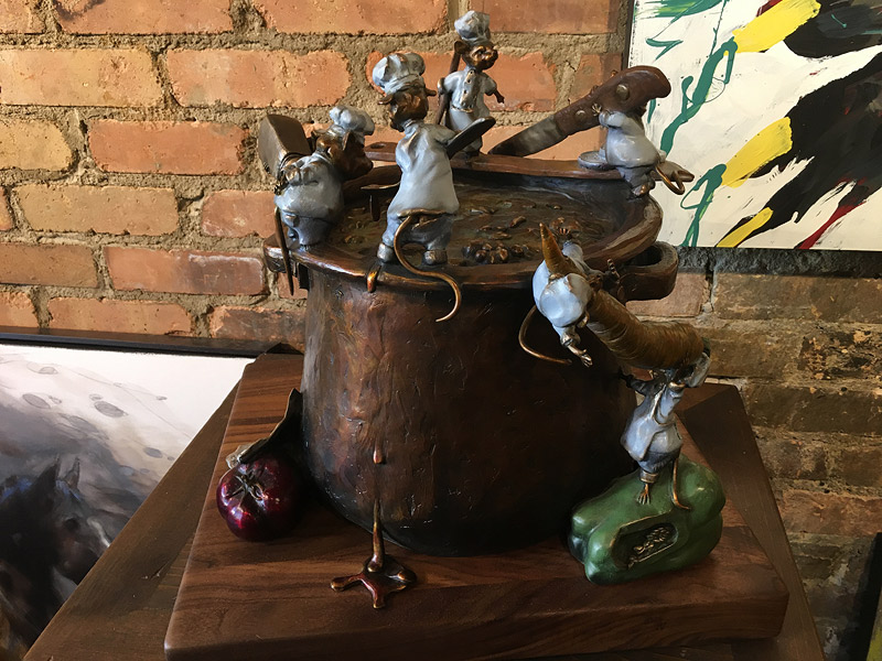 Mice sculpture