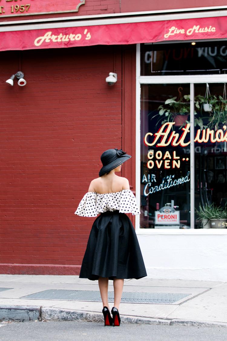 Red Wall in Soho. Fashion shoot Ulia Ali.