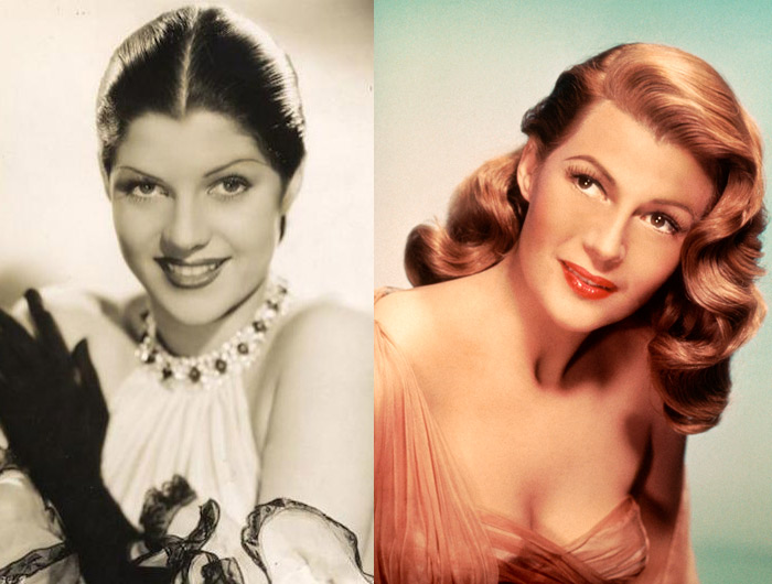 Margarita Cansino  before and  Rita Hayworth  after. What a transformation!