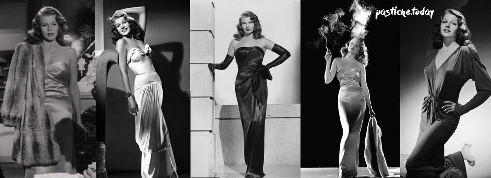 Rita Hayworth long seductive gown. Sexy style