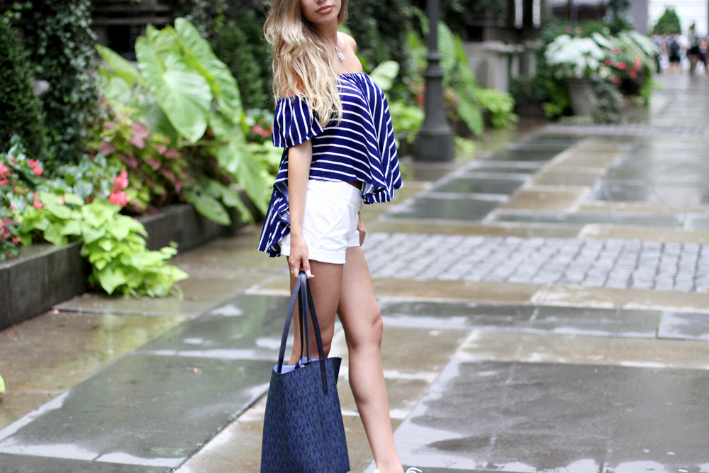 Rosegal navu striped top. Blogger's review.