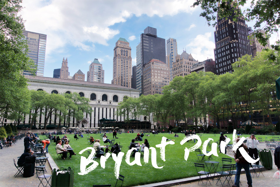 Nyc's loveliest park - Bryant Park.