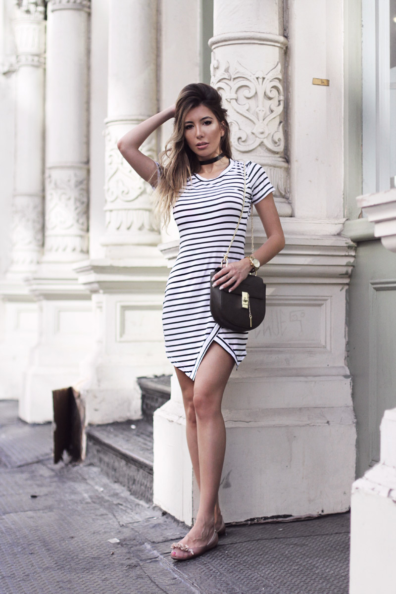 Rosegal babe. Striped dress