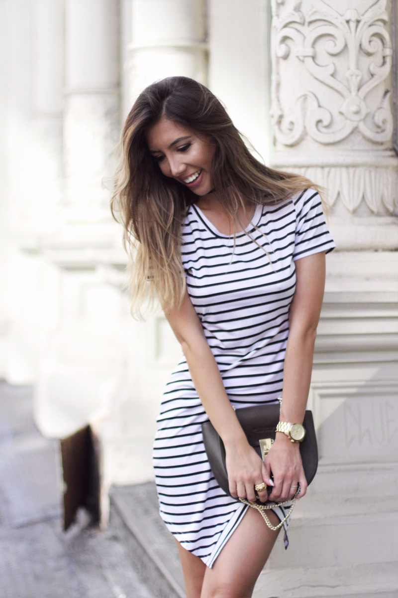 Striped dress by Rosegal as seen on New York City blogger