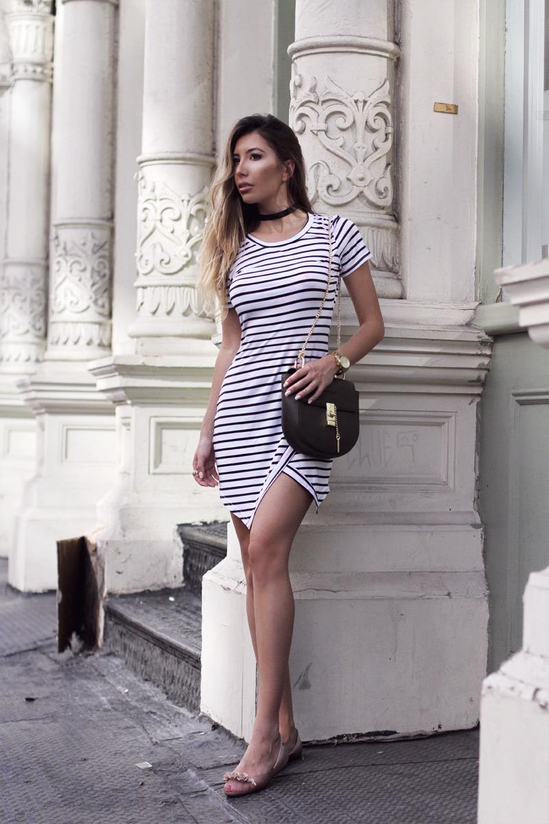 Striped dress Rosegal