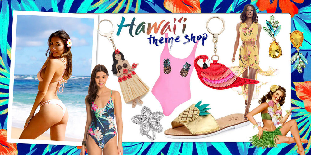 Hawaii inspired themed shop by blogger Ulia Ali.