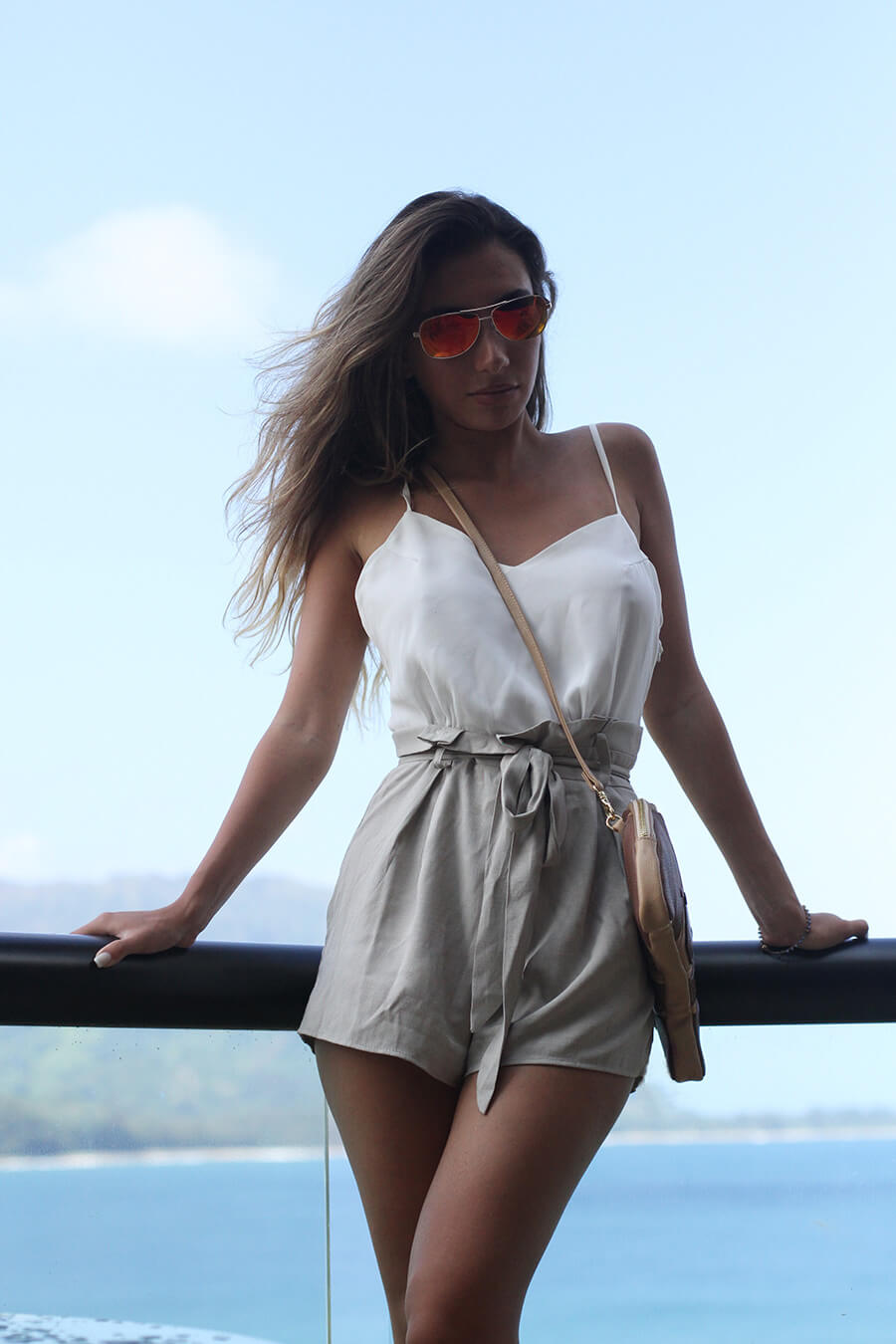 Zaful romper in Hawaii.